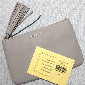 NWT Dooney & Bourke Gray Large Clutch AUTH Cards